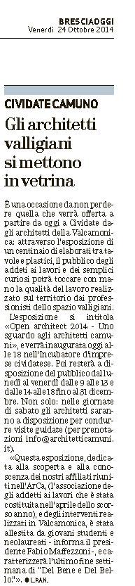 Open Arch-Bsoggi 24.10.2014